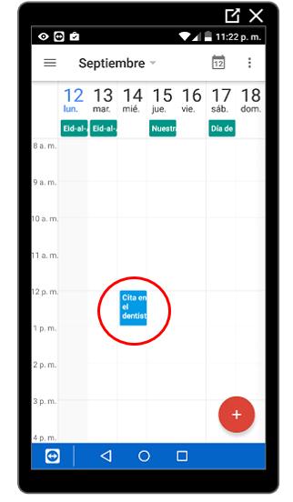 Evento en el calendario