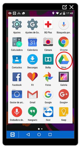 Aplicación Google Drive